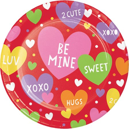 (4 Pack) Valentines Day Party Dessert Plates