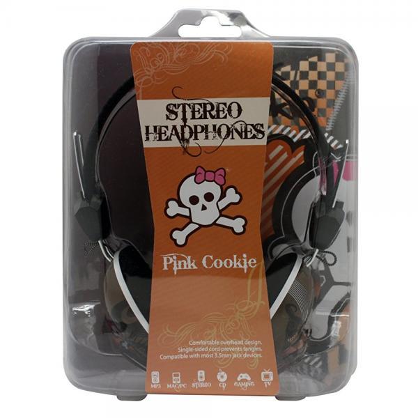 DGL PCK-825-LPC Hype Pink Cookie Heart Skull Headphones, ...