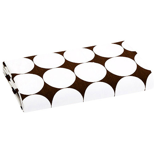 Bacati - Dots Fitted Crib Sheet 100% Cotton Percale,  White and Brown