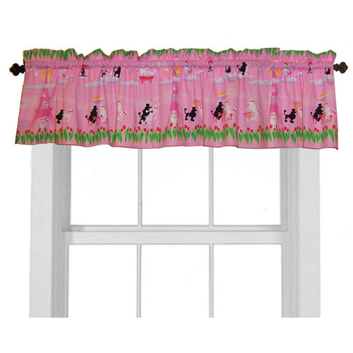 Room Magic Poodles in Paris 57'' Curtain Valance