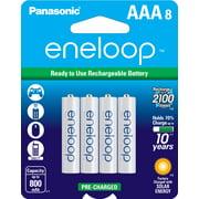 Panasonic eneloop BK-4MCCA8BA Pre-Charged AAA Rechargeable Batteries, 8 Pack