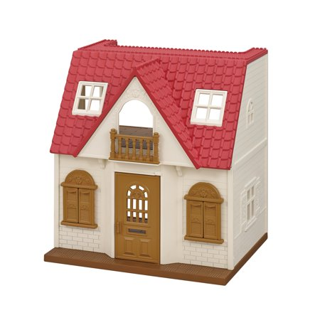Calico Critters Red Roof Cozy Cottage, Complete Set with Figure and