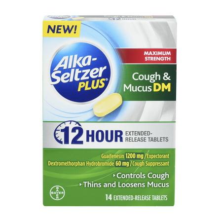 Alka-Seltzer Plus Maximum Strength Cough & Mucus DM, 14 Extended Release Tablets
