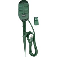 Woods 59785 6-Outlet Power Stake with Timer and Remote Control