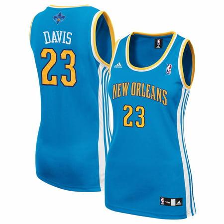 - Anthony Davis New Orleans Hornets NBA Adidas Women's Teal Replica Jersey