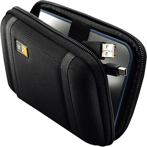 Case Logic Black Compact Portable Hard Drive Case