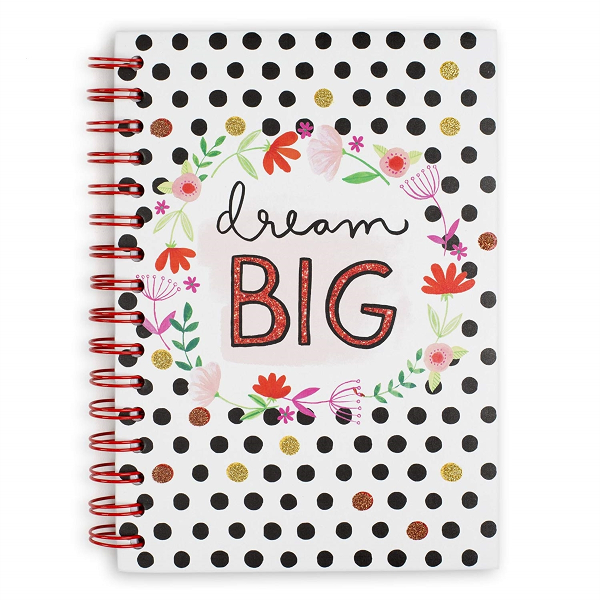Dream Big Hardcover Spiral Notebook, Multi