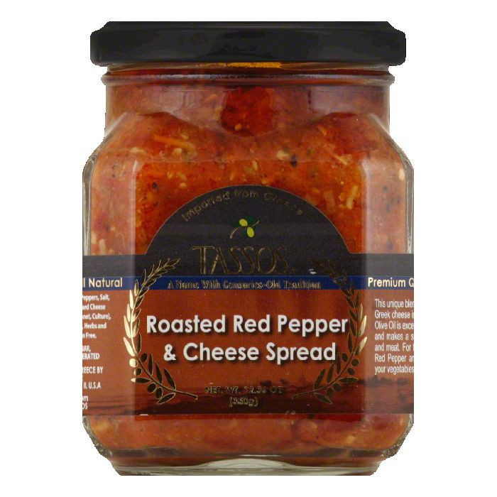 Tassos Spread Red Pepper Coulis, 12.36 OZ (Pack of 6)