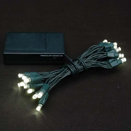 novelty lights 20 light battery operated led christmas mini light set green wire 8 long walmartcom