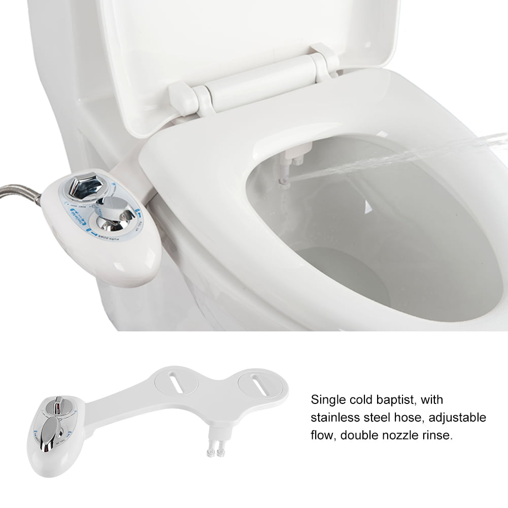 Dual Nozzle Cold Water Spray Non Electric Adjustable Mechanical Bidet Toilet Seat Attachment Bidet Toilet Bidet Toilet Seat Walmart Com Walmart Com