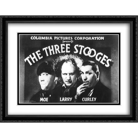 Three Stooges: Opening Credits 2x Matted 40x28 Large Black Ornate Framed Art Print - Halloween 3 Opening Credits