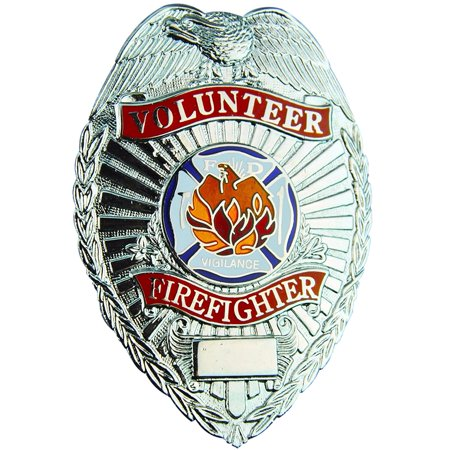Tactical 365 Operation First Response Volunteer Firefighter Badge - - Fire Fighter Badge