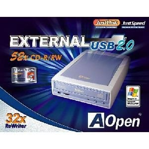 AOPEN 95.5QD37.001 EXTERNAL CD-RW DRIVE USB & AC ADAPTER aopen ehw 5232u cd rw drive usb external part 95 5qd37 001 unspsc