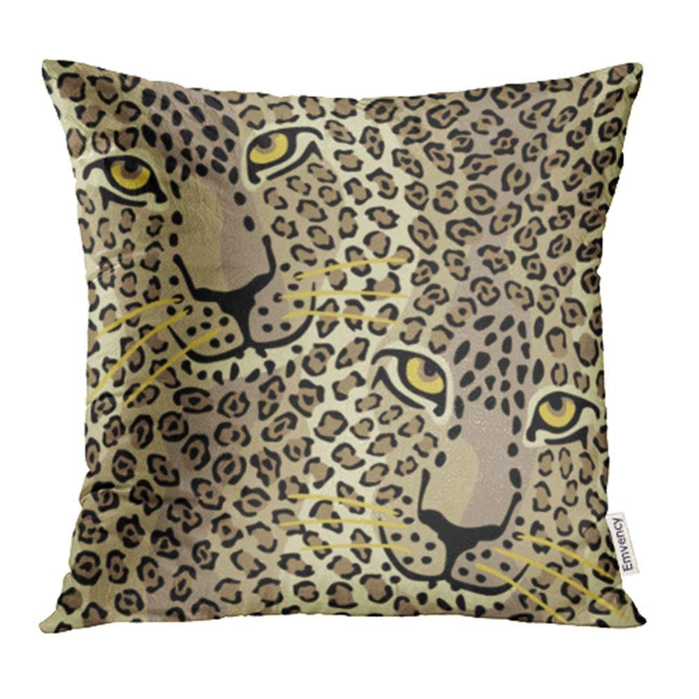 Erehome Animal Spotted Cats Pattern Repeats Seamlessly Leopard Face Skin Cheetah Abstract Pillow Case Pillow Cover 18x18 Inch Throw Pillow Covers Walmart Canada