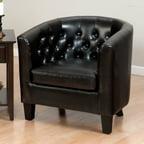 Venetian Kirklees Bonded Leather Accent Chair Antique Oak