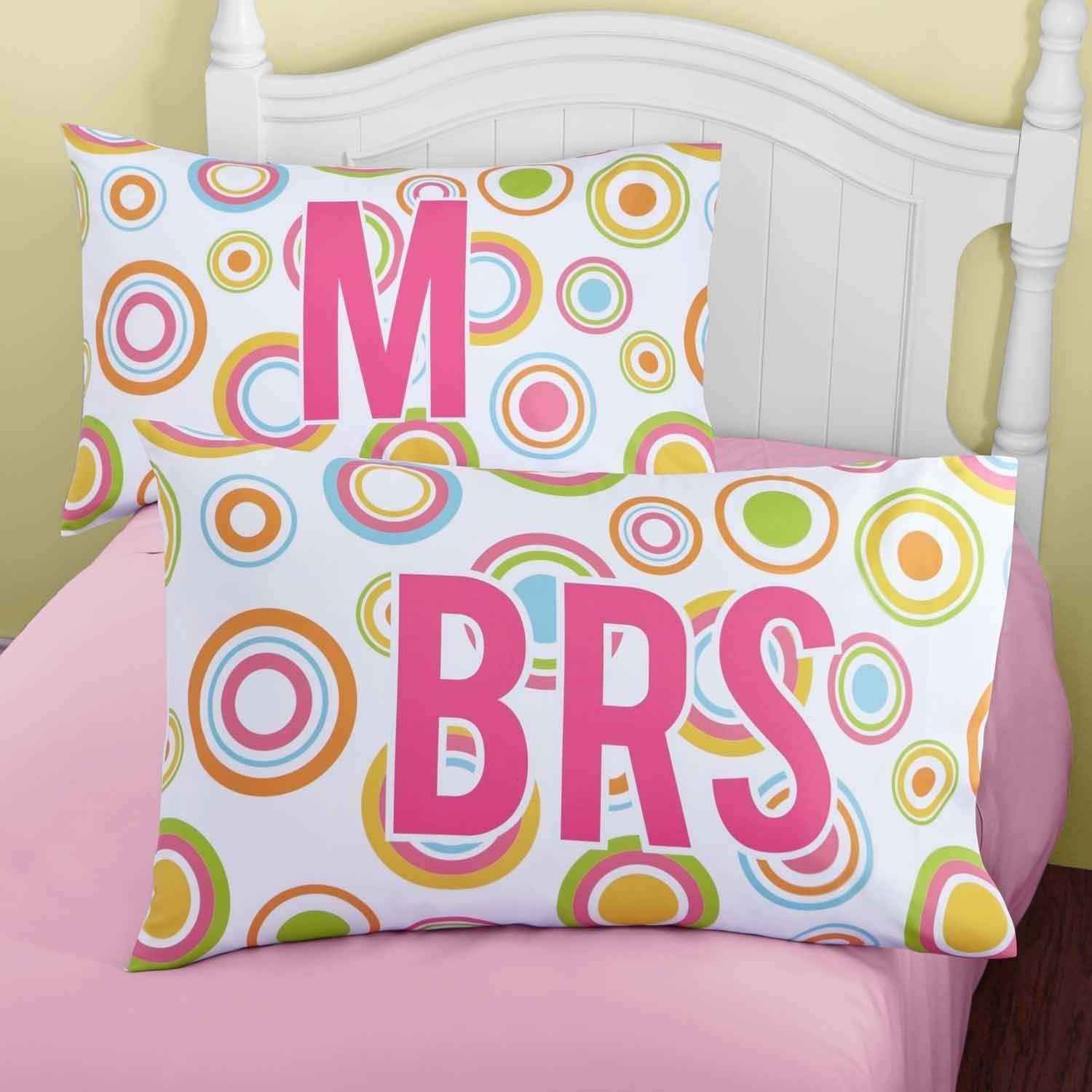 Personalized Circles Of Fun Pillowcase, Monogram