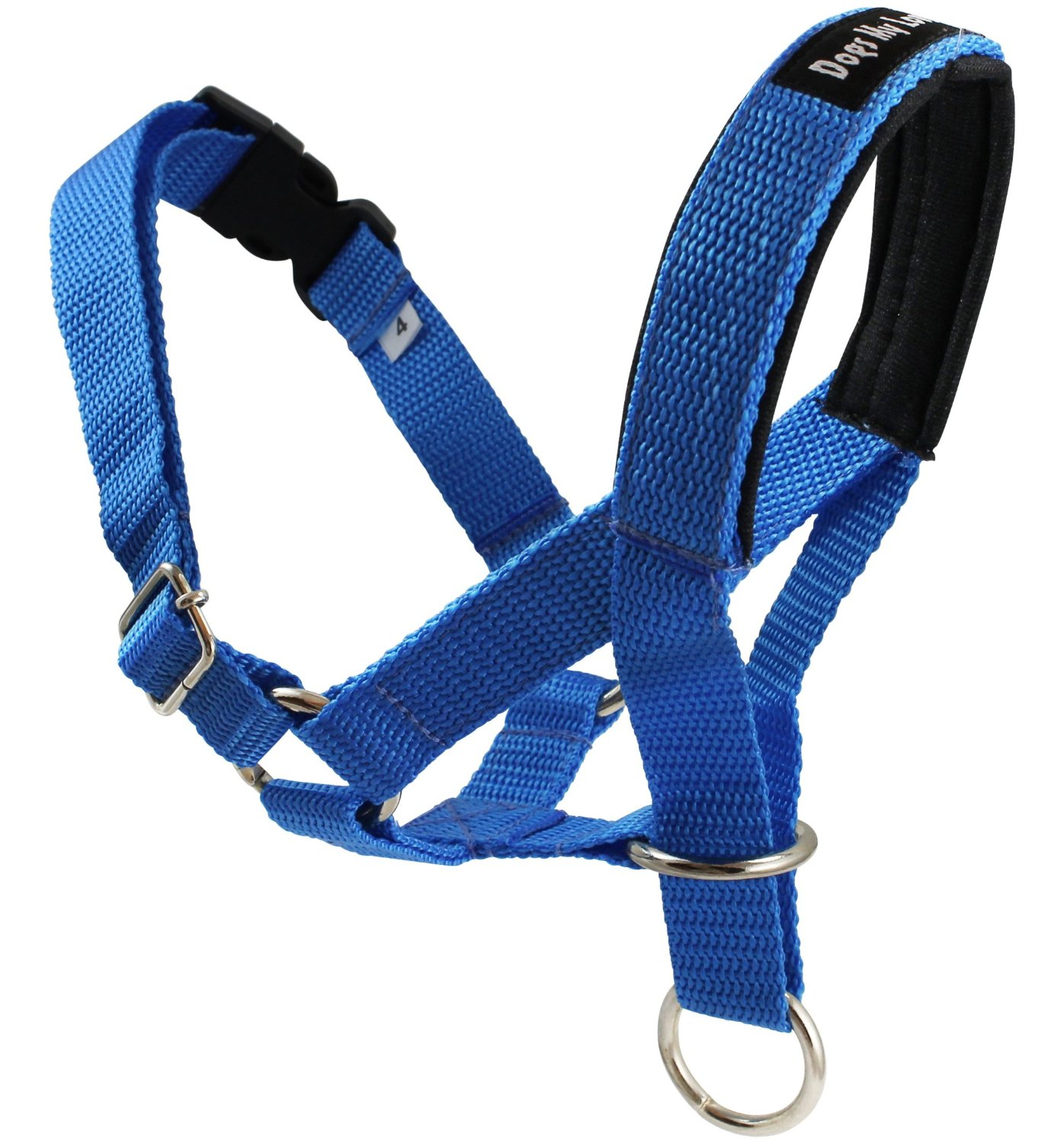 "Dog Head Collar Halter Blue 5 Sizes (L: 10.25""-12.25"" Snout)"