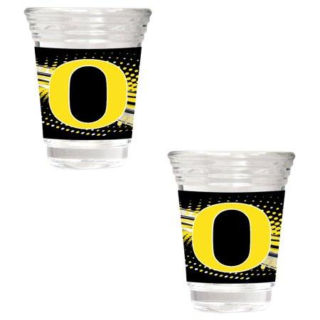 Oregon Ducks 2-Piece 2oz. Party Shot Glass Set - No Size Shot Oregon Ducks