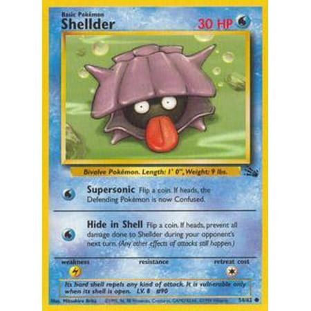 Pokemon Fossil Shellder #54 -  Wizards of the Coast