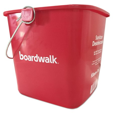 Sanitizing Bucket, 6 qt, Red, - Small Red Buckets