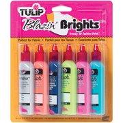 Tulip 3D Fashion Paint, 1-1/4 oz, 6/pkg