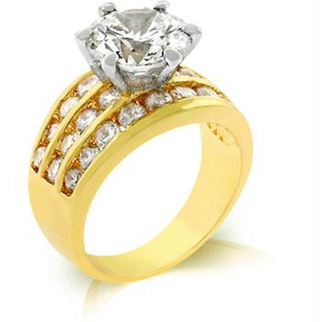 Classic Gold Engagement Ring, <b>Size :</b> 08