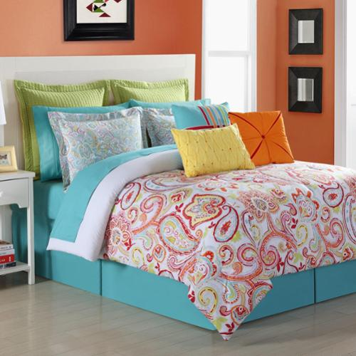 Torrance Cotton Paisley Comforter Set with Bedskirt by Fiesta King