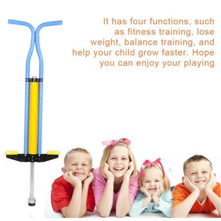 WALFRONT Pogo Stick Double Bar Jackhammer Jump Stick Sports Educational Tool For Children , pogo jumper, jump stick](Halloween Bar Promo)