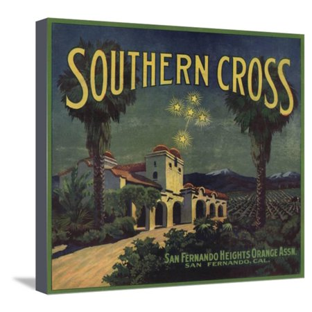 Southern Cross Brand - San Fernando, California - Citrus Crate Label Stretched Canvas Print Wall Art By Lantern Press ()