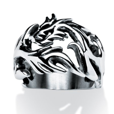 Men's Dragon Cutout Ring in Stainless Steel Sizes 9-16 - Dragon Ring Jewelry