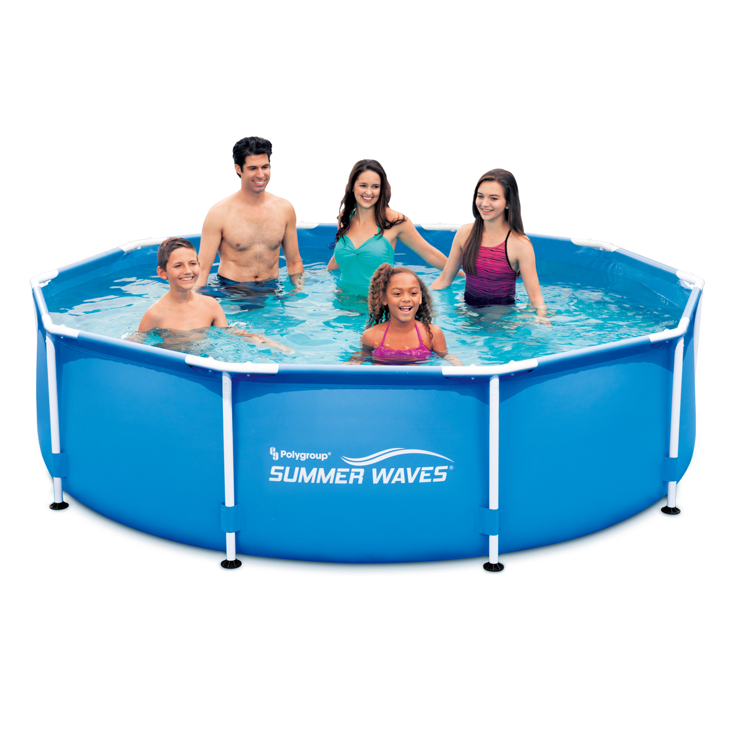 "Summer Waves 10' x 30"" Metal Frame Above Ground Swimming Pool"