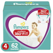 Pampers Cruisers 360 Fit Diapers, Active Comfort, Size 4, 62 ct