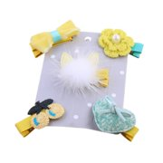 5-6 Pcs/set Baby Girl Bow Flower Mini Barrettes