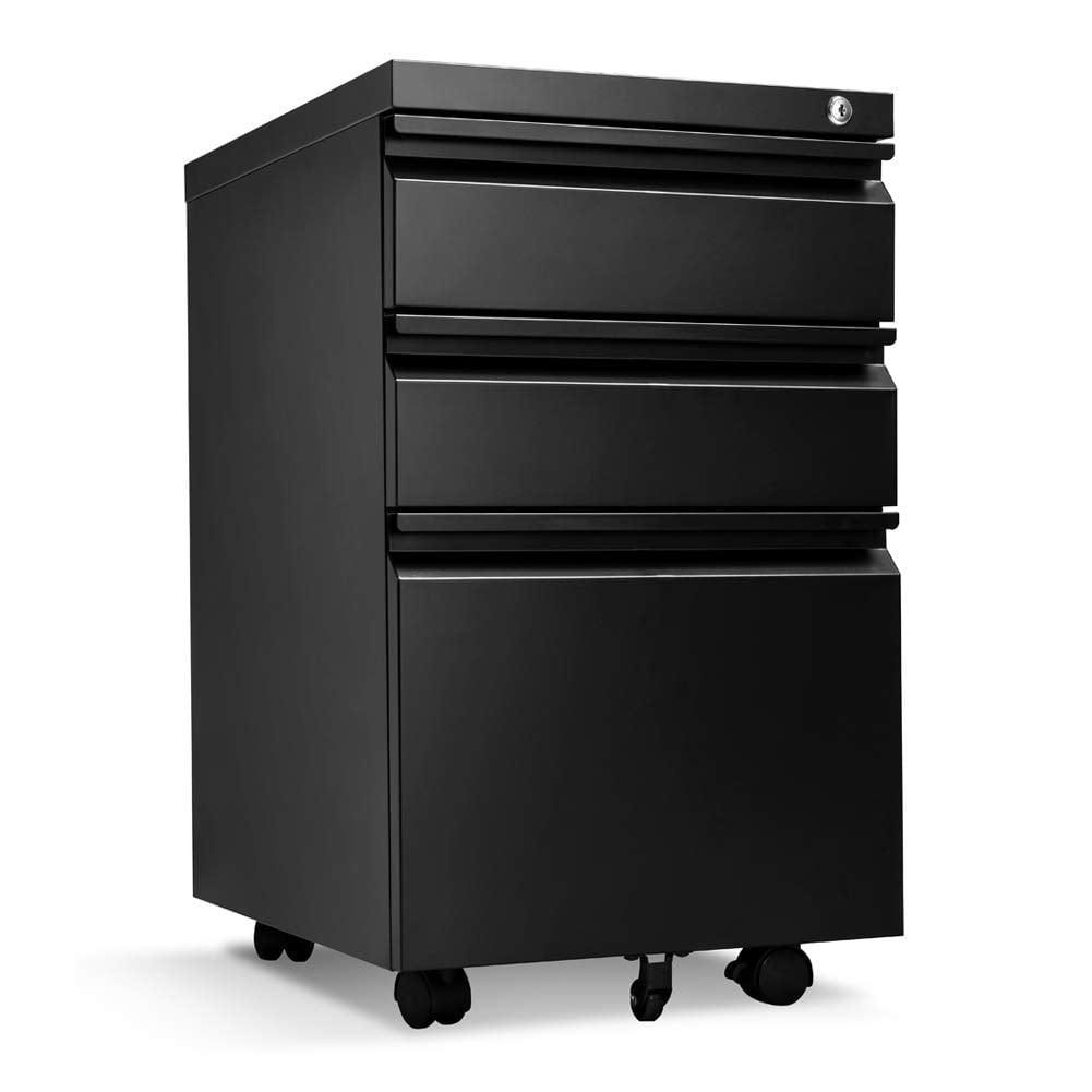 SUNCROWN Locking File Cabinet Rolling Metal Filing Cabinet ...