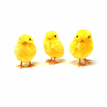 Fuzzy Chick, Yellow, 3-1/2-Inch, 3-Piece](Hippie Chick Party Supplies)