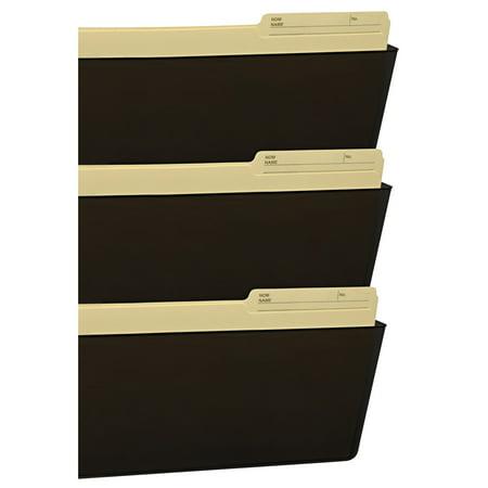 Brown Wall Pocket (Storex Wall File, Legal 16 x 14, Three Pocket, Smoke)