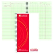 Hammond And Stephens 6.75 x 11 in. Wire-O Bound Class Record Book, Polyice Cover, 45 Students, Green And Red