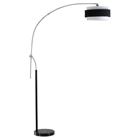 Cal Lighting BO-2100FL Santa Monica Arc Floor Lamp with Marble Base Base Arco Floor Lamp