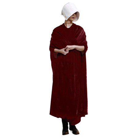 Handmaid's Tale Adult Costume Velour Robe and Hat | Dresses for Women - Homemade Fairy Tale Costumes For Adults