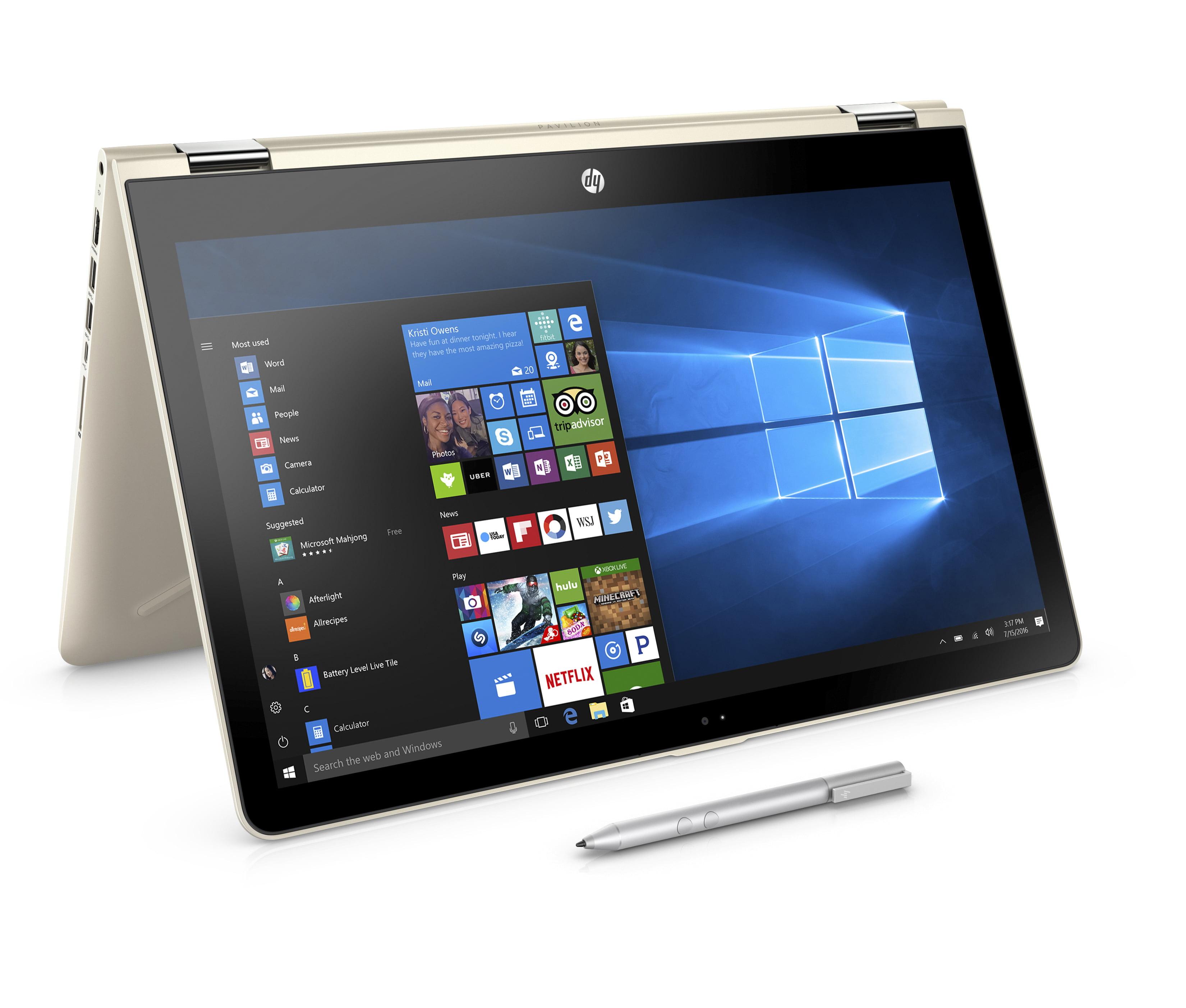 "HP Pavilion 15-br082wm X360 15.6"" Touchscreen 2 in 1 Laptop, Windows 10, Intel Corei5-7200U Processor,... by HP"