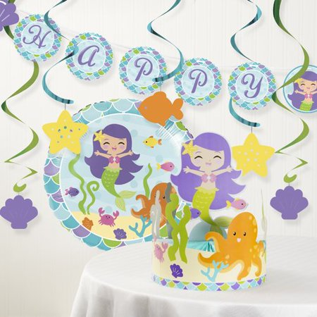 The Party Aisle Mermaid Friends Birthday Party Decoration Kit