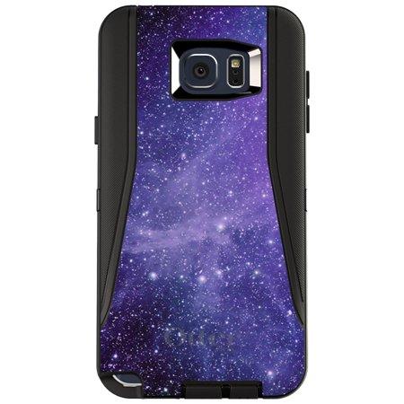DistinctInk™ Custom Black OtterBox Defender Series Case for Samsung Galaxy Note 5 - Purple Black White Stars Nebula