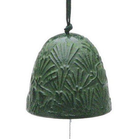 japanese furin wind chime nanbu bell iron iwachu tir 148 green pine