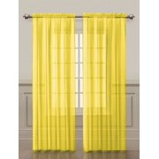 2 Pack: VCNY Home Premium Sheer Curtains - Yellow