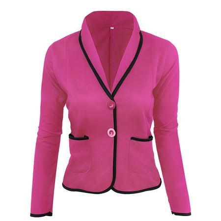 JustVH Women's 3/4 Ruched Sleeve Open Front Lightweight Work Office Blazer Jacket