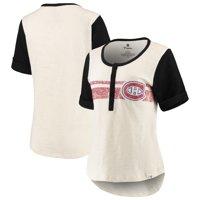 Montreal Canadiens Fanatics Branded Women's True Classics Slub Henley T-Shirt - White/Black