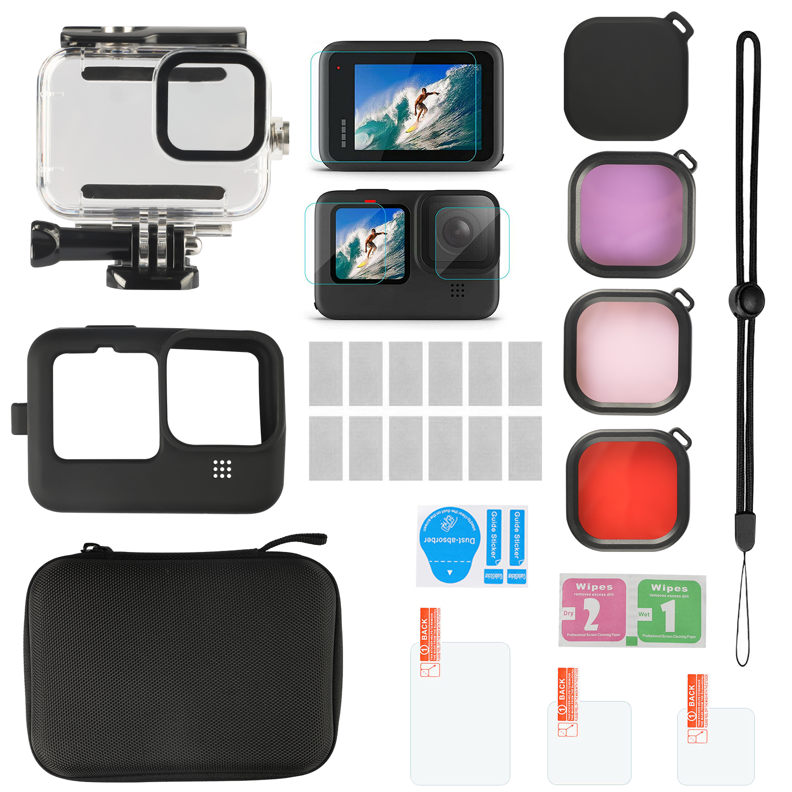 alpha-ene.co.jp VARIPOWDER Accessories Kit for GoPro Hero 9 Black ...