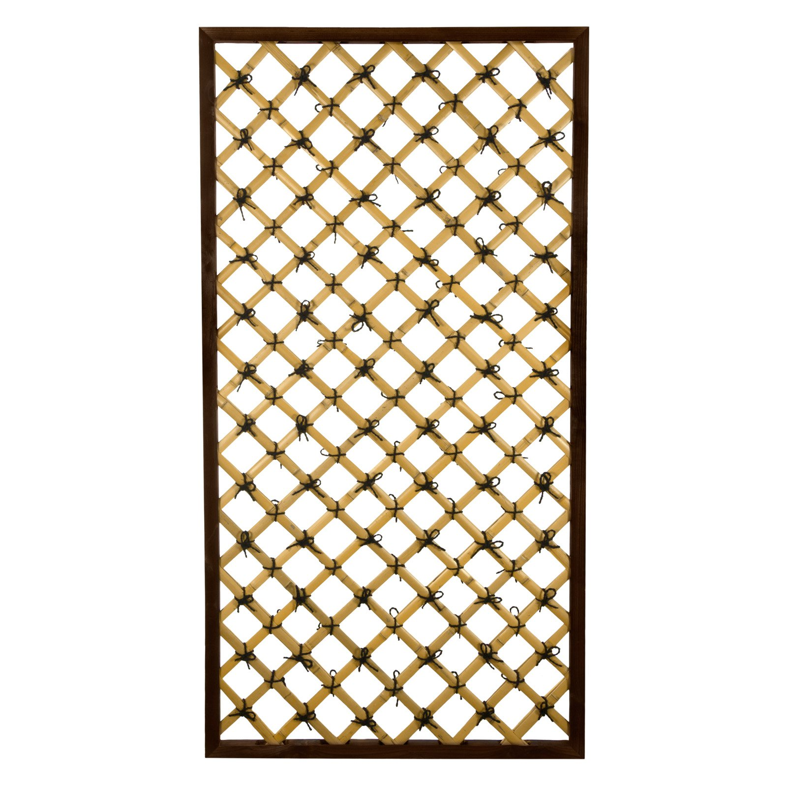 Oriental Furniture Tall Traditional Bamboo Trellis