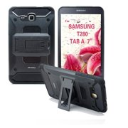samsung galaxy tab a 7.0 2016 case t280 [irhino] tm black heavy duty [dual layer] [hybrid case] cover with build in kickstand protective case for samsung galaxy tab a 7.0 inch 2016 t280 tablet