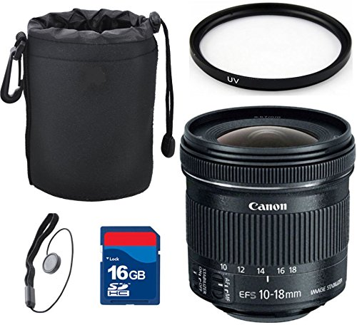 Canon EF-S 10-18mm f/4.5-5.6 IS STM Lens Top Value Bundle...